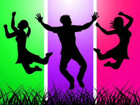 exhilaration: Grass Excitement Representing Exhilaration Thrilled And Activity
