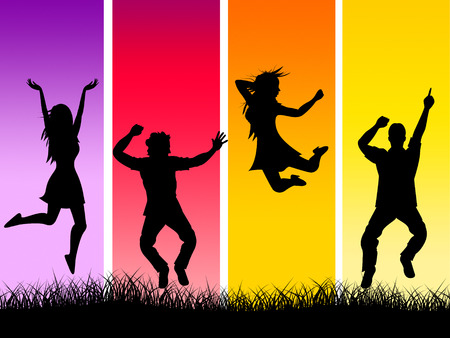 elation: Grass Excitement Meaning Outdoor Thrilling And Excited