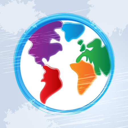 globally: Background Globe Showing Template Globally And Globalization Stock Photo