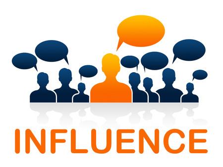 Influence leadership Signification gestion Led et direction Banque d'images