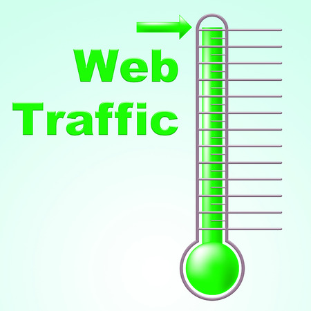 Web Traffic Indicating Fahrenheit Thermometer And Degree photo