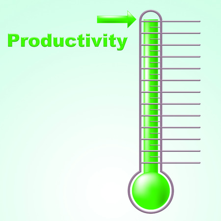 Thermometer Productivity Meaning Efficiency Mercury And Centigrade photo