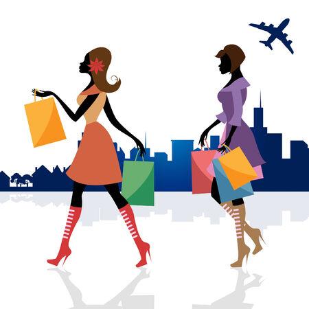 merchandiser: Women Shopper Representing Retail Sales And People Stock Photo