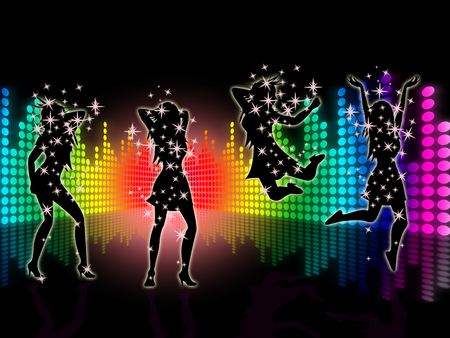 Music Dancing Representing Sound Track And Dance
