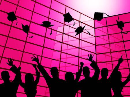 lernte: Stellvertretend f�r die Hochschulbildung Studien Erziehung und gelernt Lizenzfreie Bilder