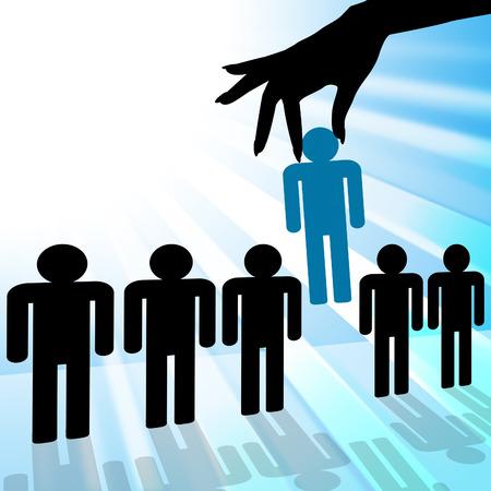 Stand Out Vertegenwoordigen Best Choice En Verschil Stockfoto