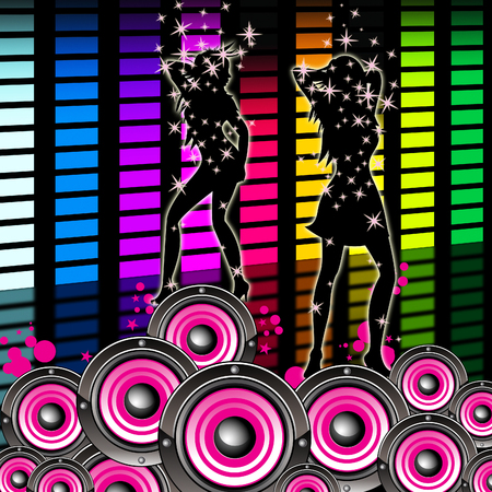 remix: Dancing Music Indicating Sound Track And Graphic Stock Photo