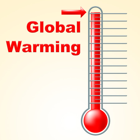 Global Warming Showing Celsius Thermometer And Heat photo