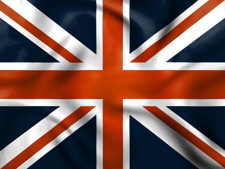 Union Jack Indicating Waving Flag And Nationality