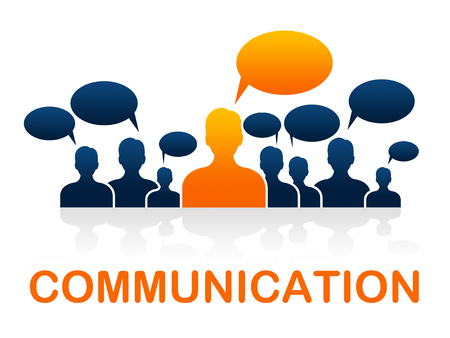 Communication Team Indicating Communicate Network And Networking Stock Photo