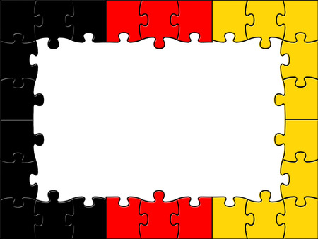 germanic: Germany Jigsaw Representing Blank Space And Germanic