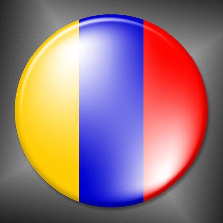 columbian: Columbian Badge Showing Waving Flag And Badges