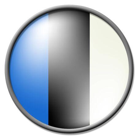 estonian: Estonian Badge Indicating Waving Flag And Euro Stock Photo