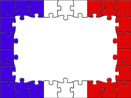assemble: France Jigsaw Meaning Blank Space And Assemble Stock Photo