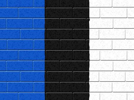 estonian: Estonian Flag Representing Empty Space And Patriot