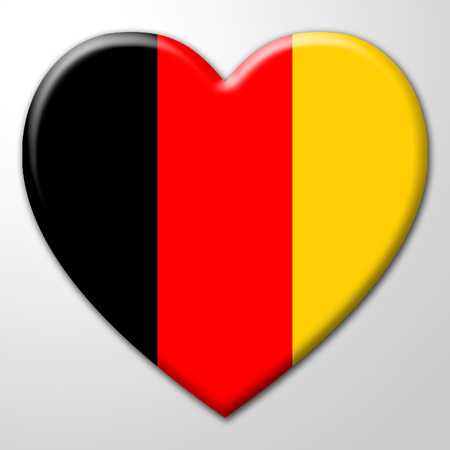 germany heart representing valentines day and deutch stock photo 30781242