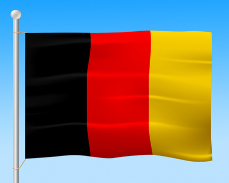 germanic: Germany Flag Indicating Germanic Patriotic And Euro