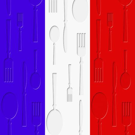 cuisine fran�aise: Cuisine fran�aise Signification de manger des aliments And Restaurant Banque d'images