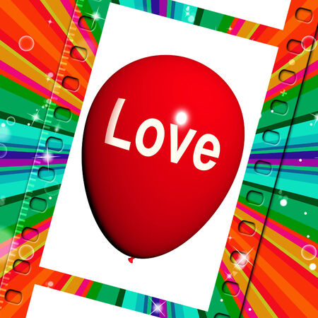 with fondness: Love Balloon Showing Fondness and Affectionate Feeling