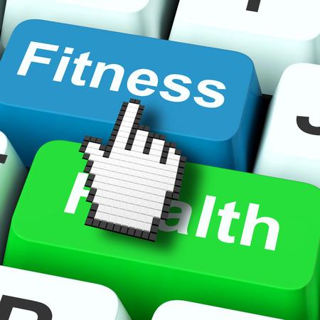 fitness and health: Fitness Salute Computer Visualizzazione Salute Archivio Fotografico