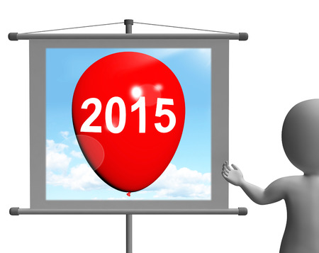 fifteen: Two Thousand Fifteen on Sign Showing Year 2015