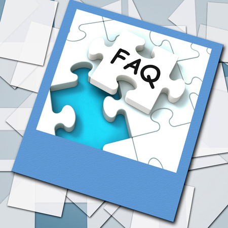 inquiries: FAQ Photo Meaning Website Questions And Solutions Stock Photo
