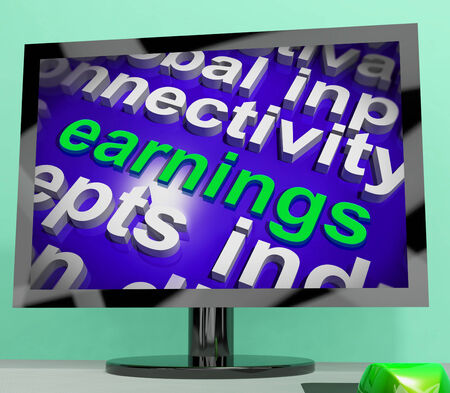 earned: Earnings Screen Showing Wage Prosperity, Career, Revenue And Income