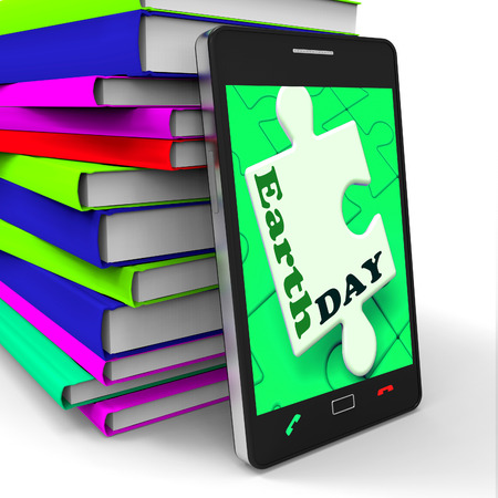 Earth Day Smartphone Meaning Eco Friendly And Green photo