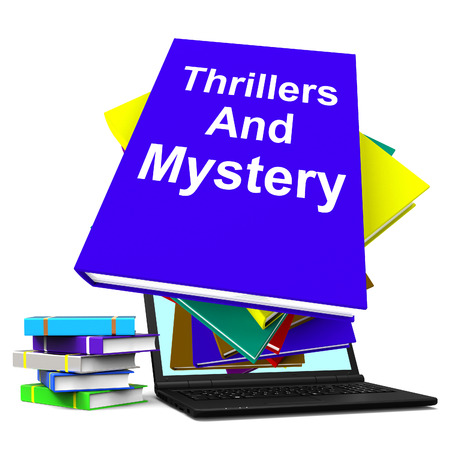 genre: Thrillers and Mystery Book Laptop Showing Genre Fiction Books