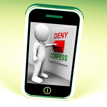 confess: Confess Deny Switch Showing Confessing Or Denying Guilt Innocence