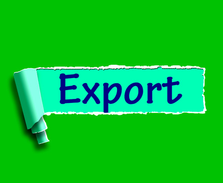 exported: Export Word Showing Selling Overseas Through Internet
