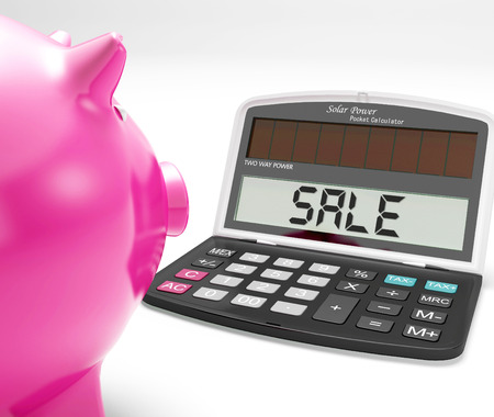 price reduction: Sale Calculator Showing Price Reduction Or Discounts