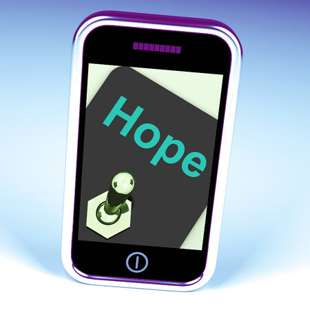 wanting: Hope Switch Phone Showing Wishing Hoping Wanting