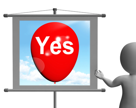 affirmative: Yes Sign Meaning Affirmative Approval and Certainly