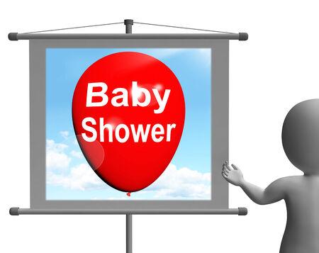 festividades: Entrar Baby Shower Mostrando Alegre Fiestas y Partes