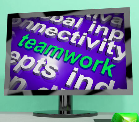 combined effort: Teamwork Word Cloud Showing Combined Effort And Cooperation