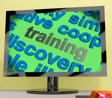 apprenticeship: Training Word Screen Showing Education Apprenticeship Or Up skilling