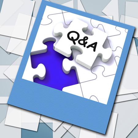 Q&A Photo Showing  Questions Answers And Assistance photo