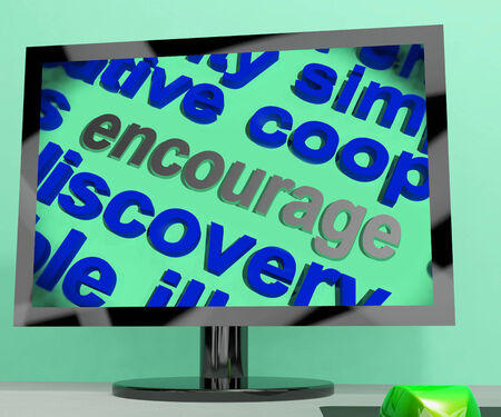 encouraged: Encourage Word Screen Meaning Motivation Inspiration And Support