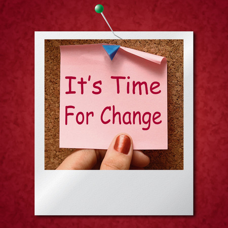 revise: Its Time For Change Photo Means Revise Reset Or Transform