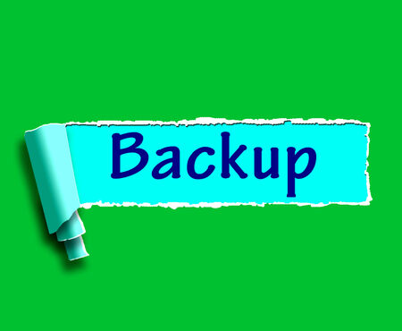backing up: Backup Word Showing Data Copying Or Backing Up Stock Photo
