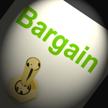 markdown: Bargains Switch Showing Discount Promotion Or Markdown Stock Photo