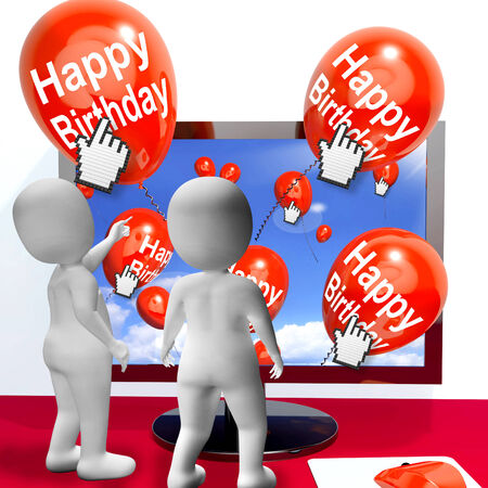 festivities: Happy Birthday Balloons Showing Festivities and Invitations Internet