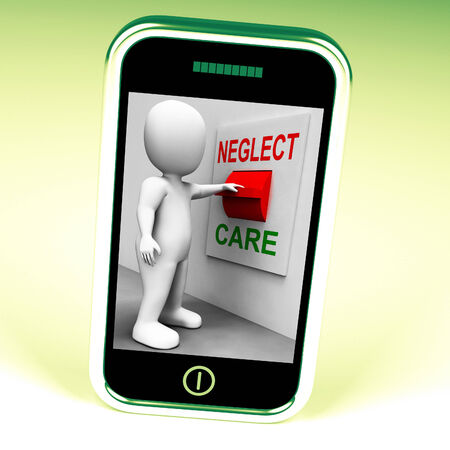 neglect: Neglect Care Switch Showing Neglecting Or Caring Stock Photo