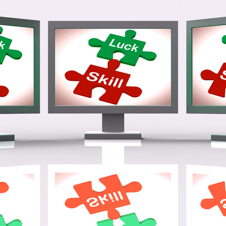 fortunate: Luck Skill Puzzle Screen Meaning Competent Or Fortunate