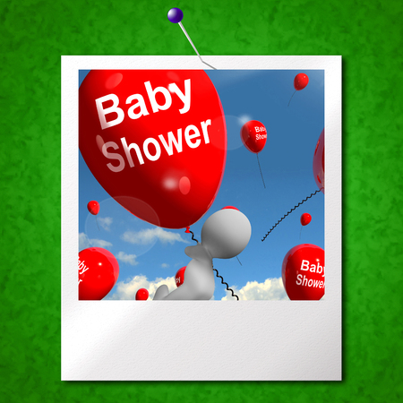 festivities: Baby Shower Balloons Photo Showing Cheerful Parties and Festivities