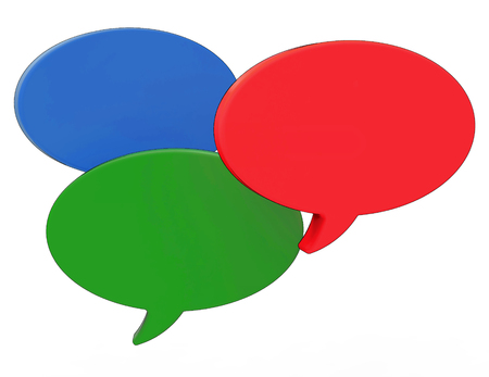 copyspace: Blank Speech Balloons Showing Copyspace For Thought Chat Or Idea