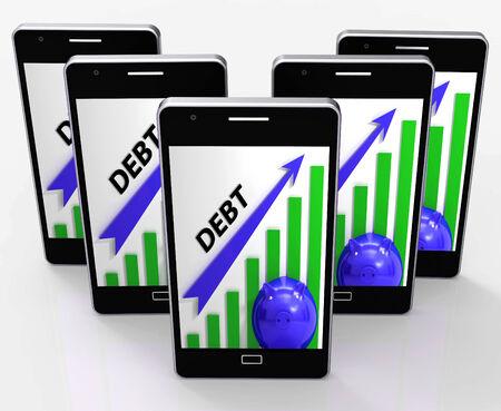 tomar prestado: Deuda Gr�fico Mostrando Bills de d�ficit y endeudamiento