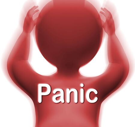 unsettled: Panic Man Meaning Fear Worry Or Distress