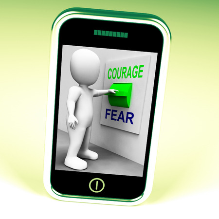 audacious: Courage Fear Switch Showing Afraid Or Courageous